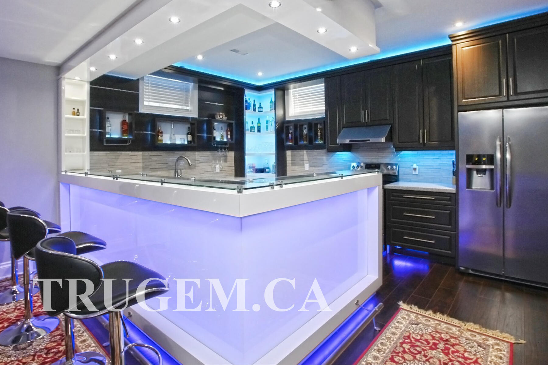 black cabinets marble countertops