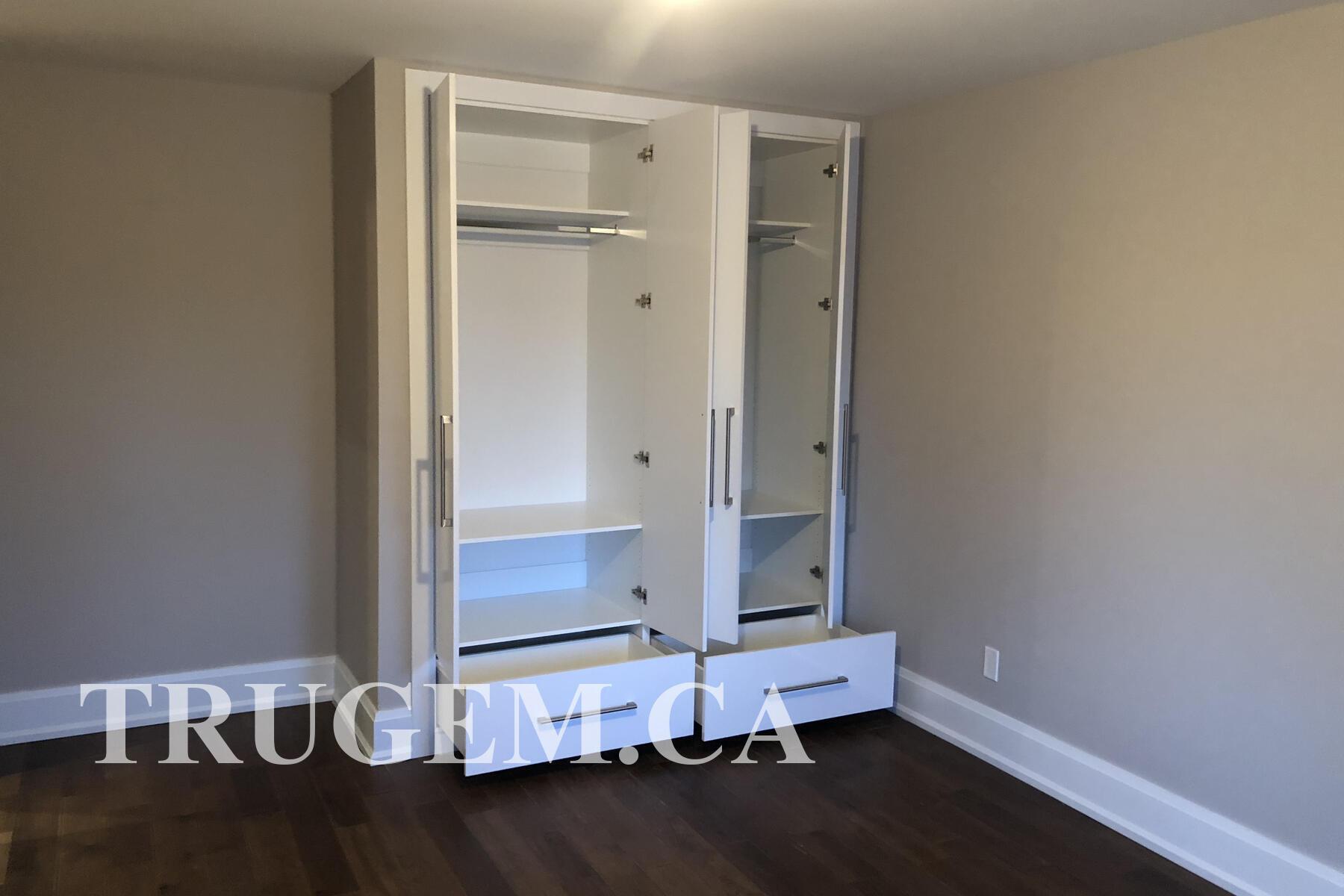 white wardrobe closet