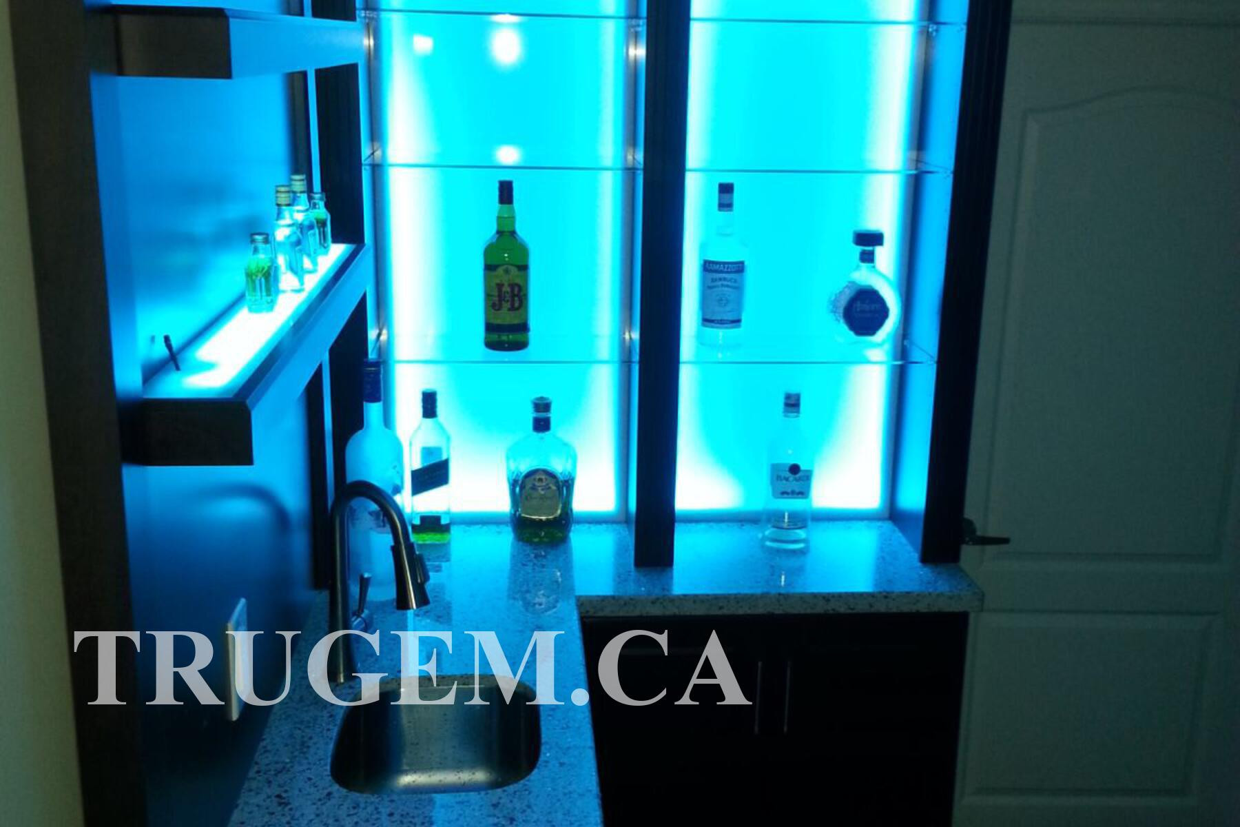 home bar with sink