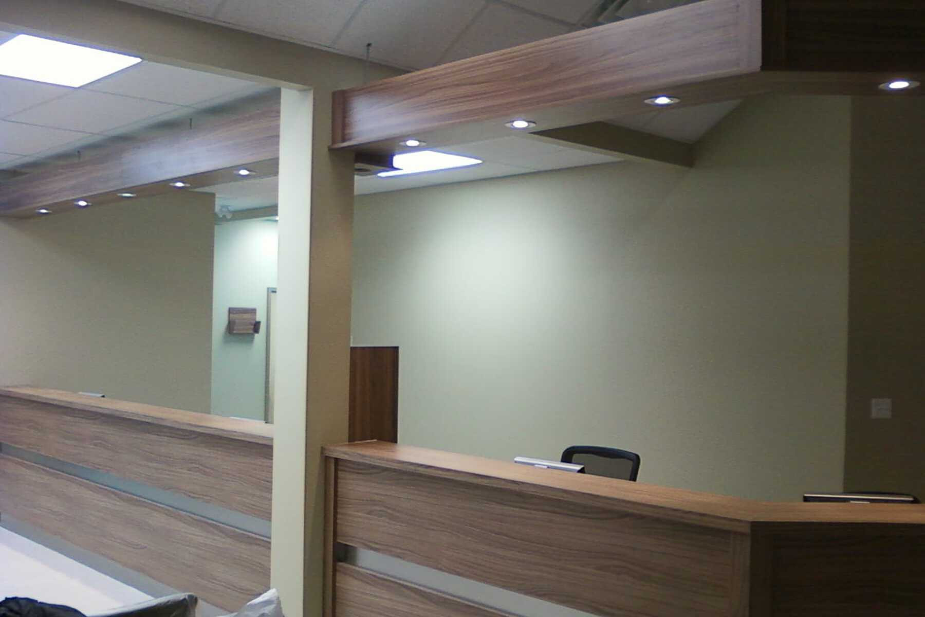 doctor office reception desk
