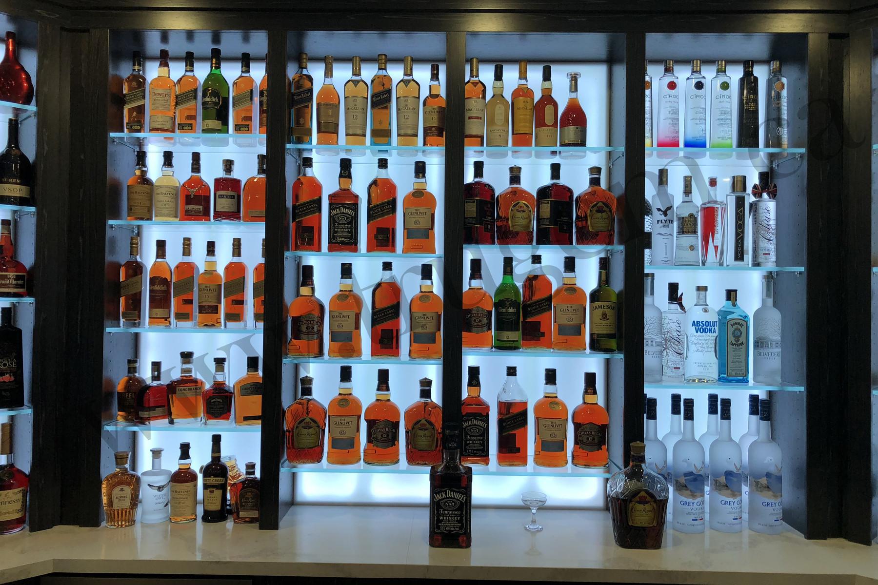 home bar shelves