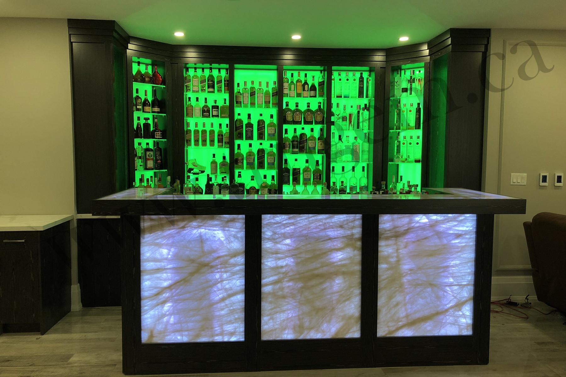 green shade modern home bars