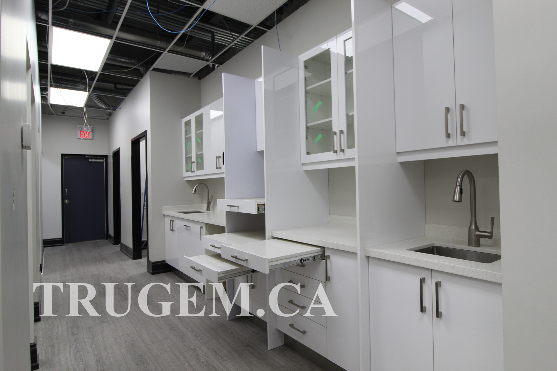 dental office white cabinets