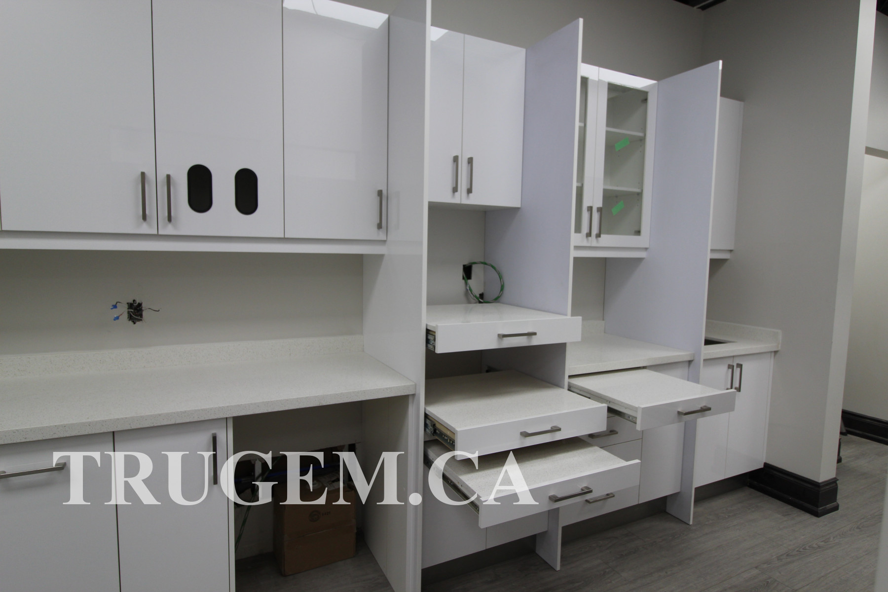 dental clinic white cabinets