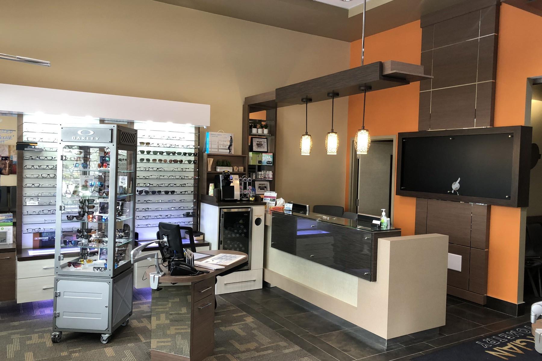 reception desk for salon