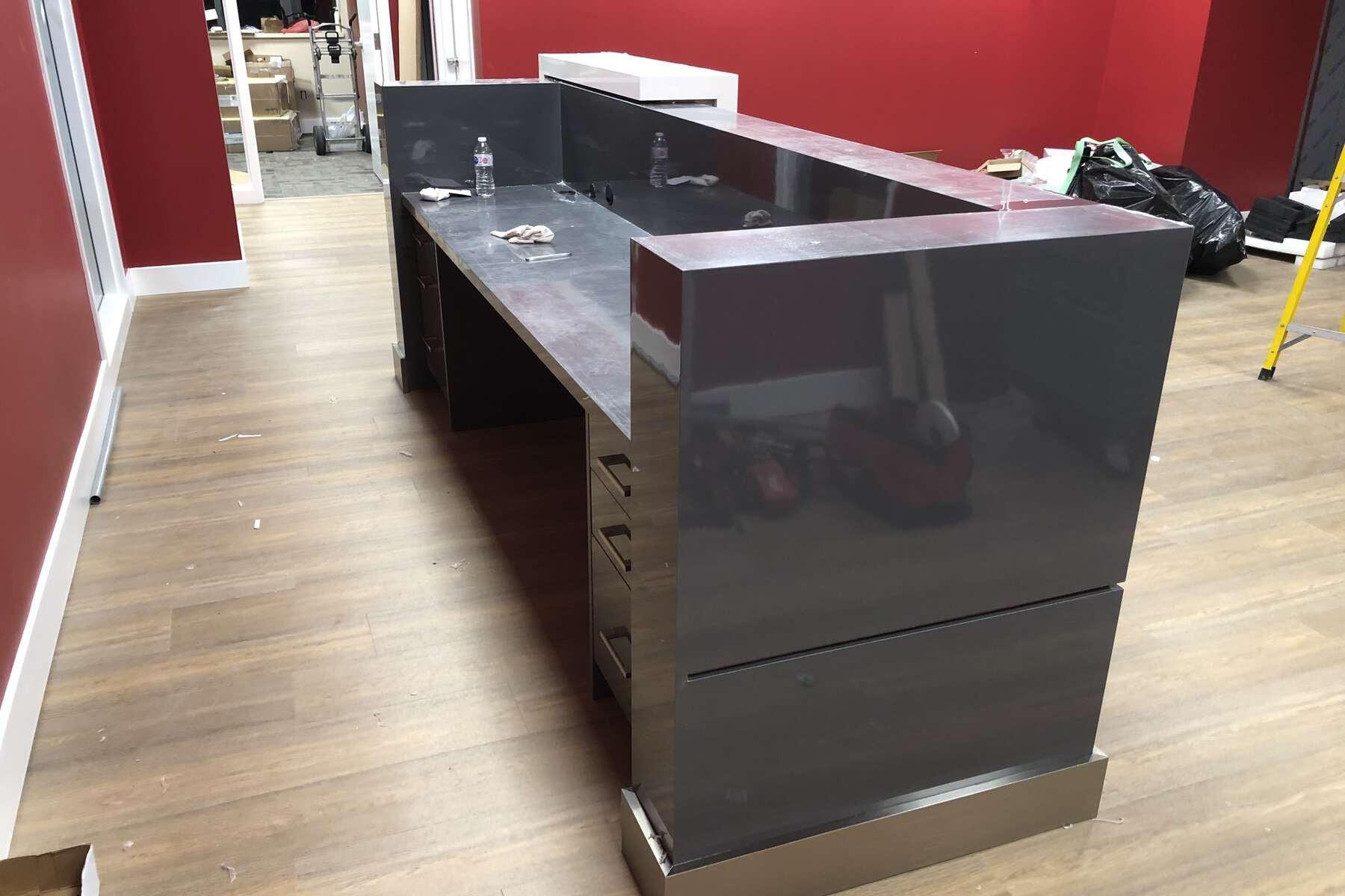 reception desk standard dimensions