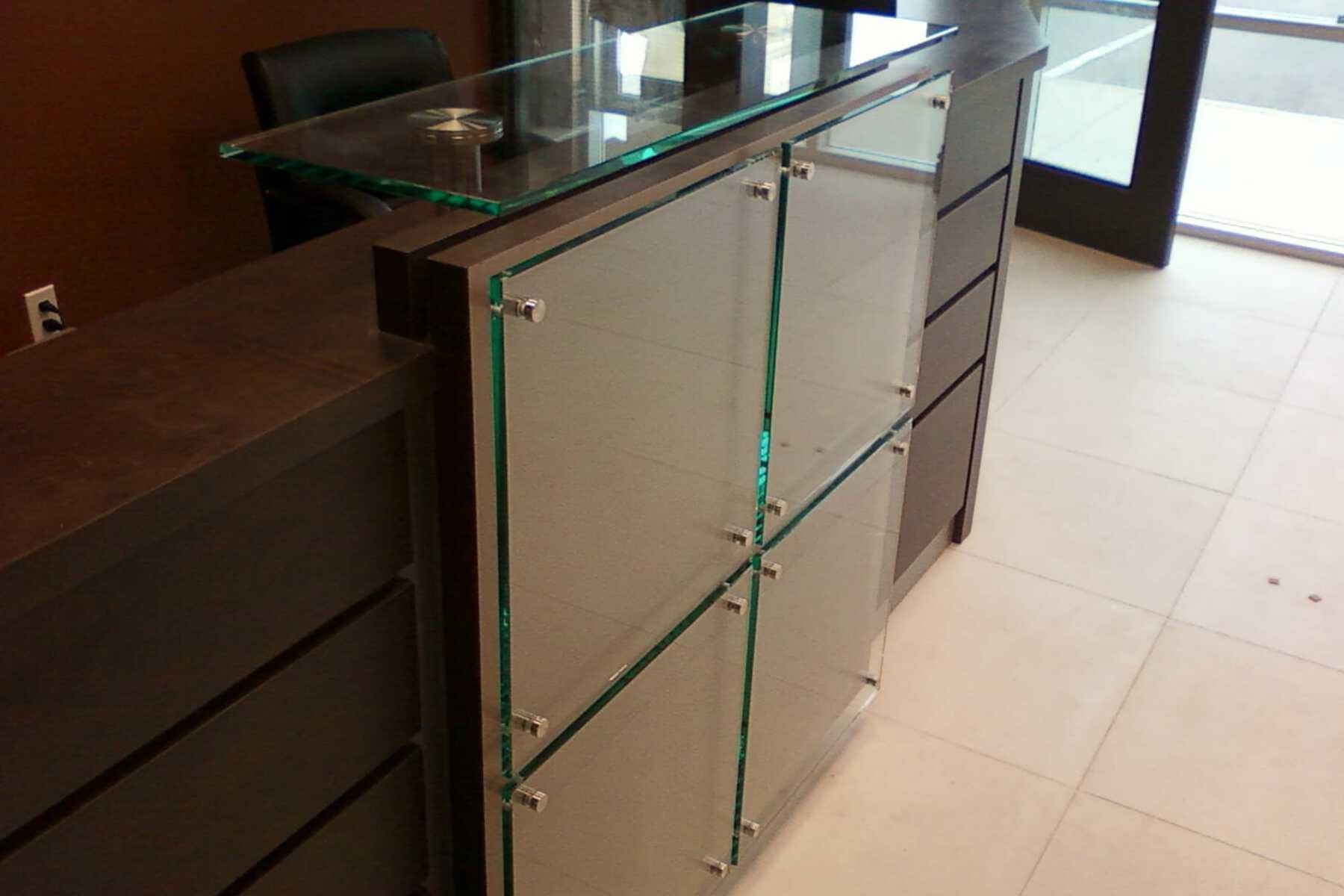 reception desk wood design