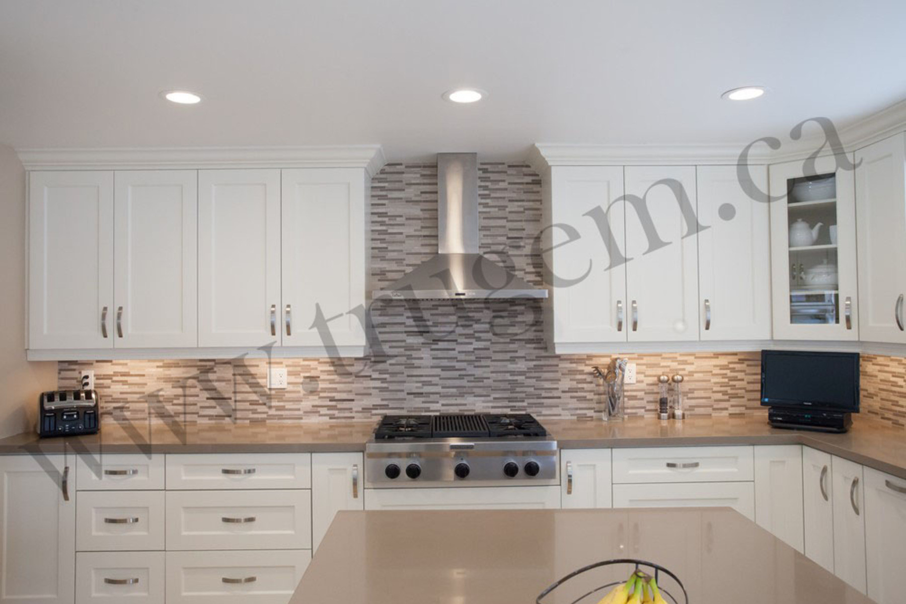 transitional kitchen white