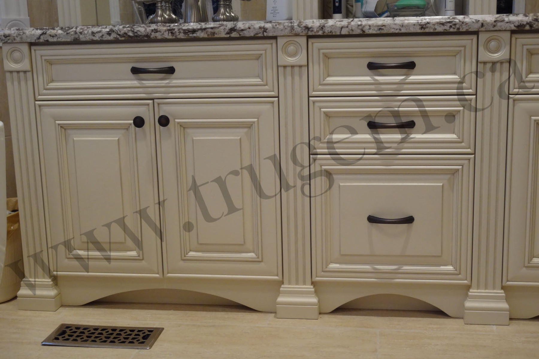 modern vanities with closets