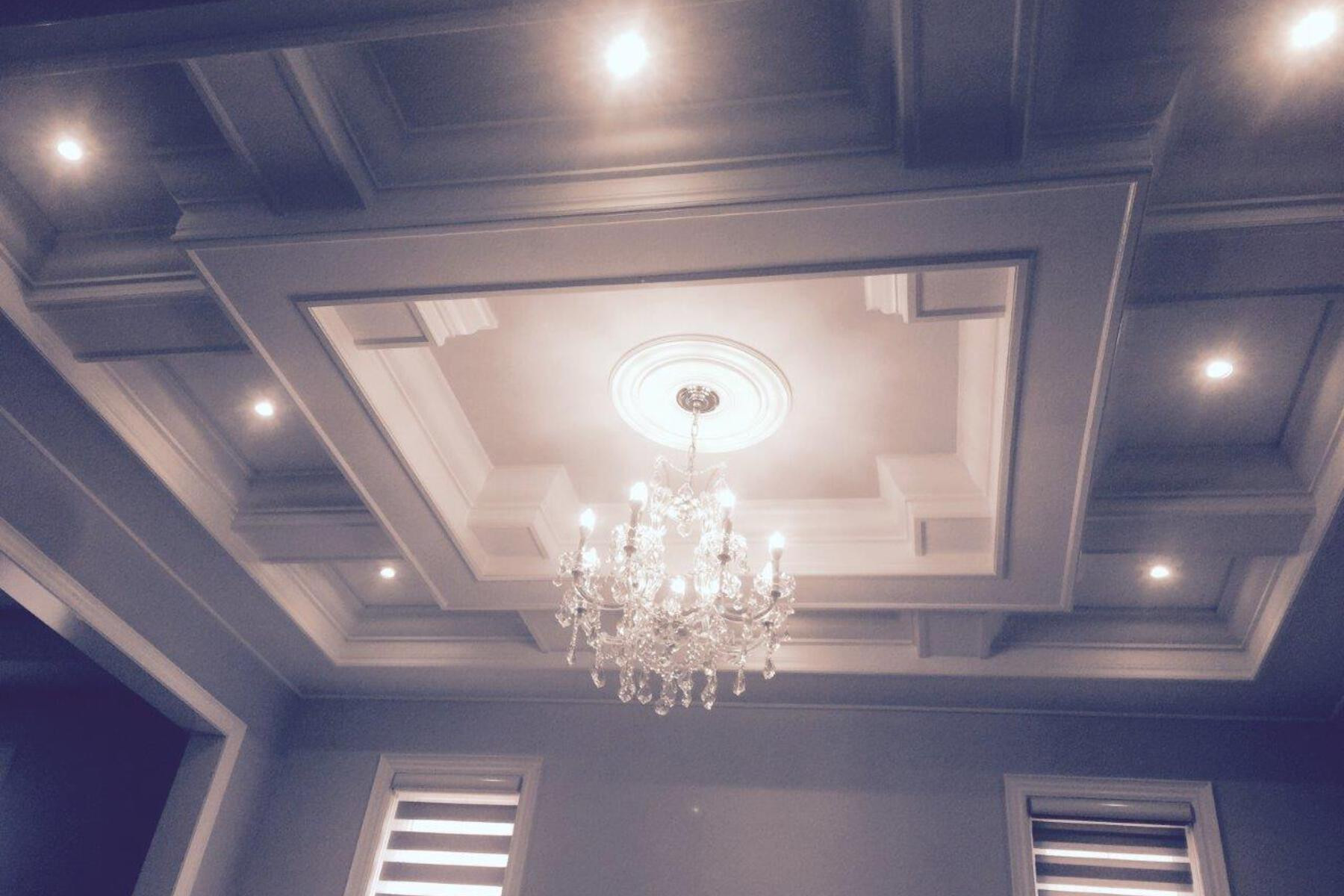 modern Chandeliers at ceiling