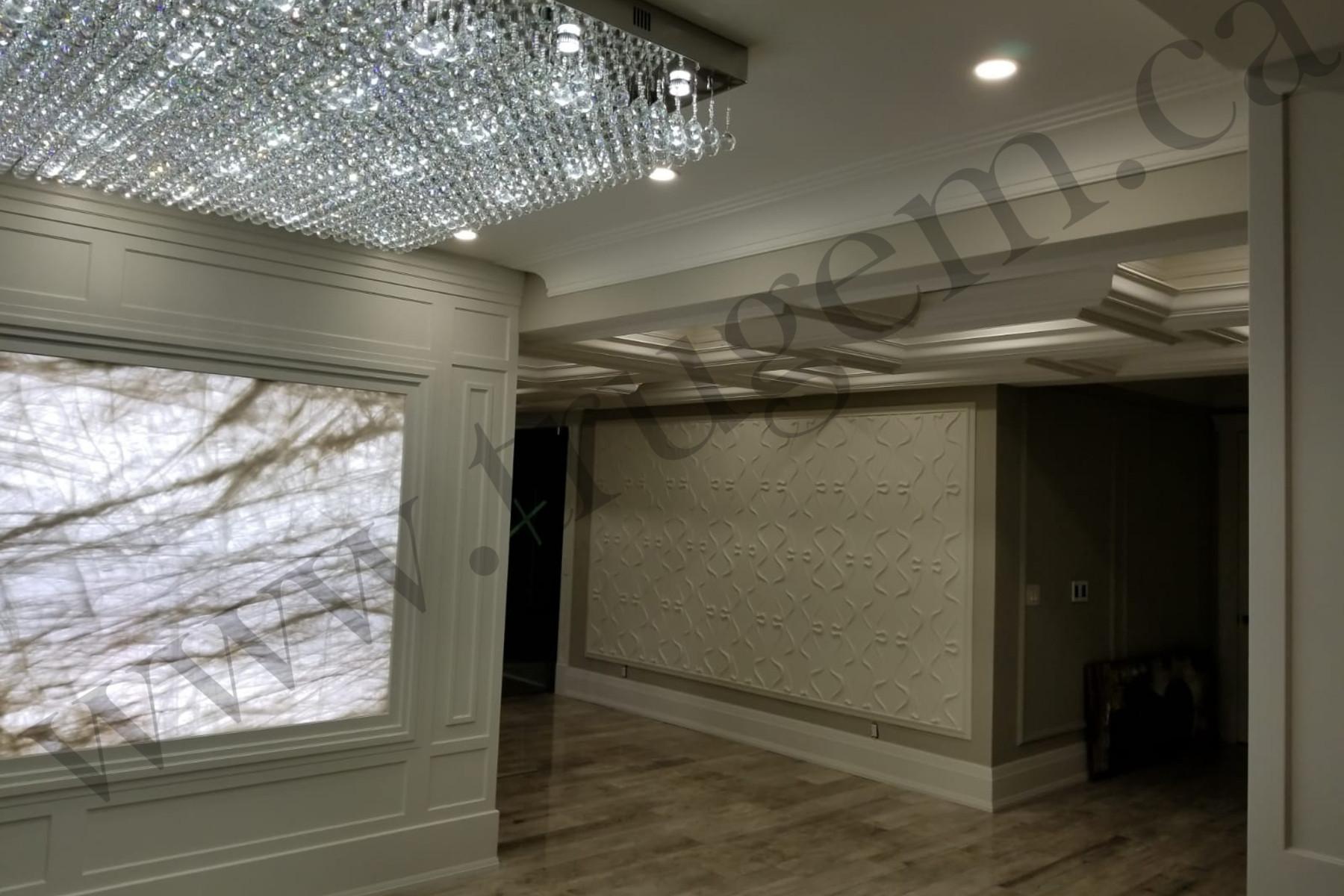 modern finished basement