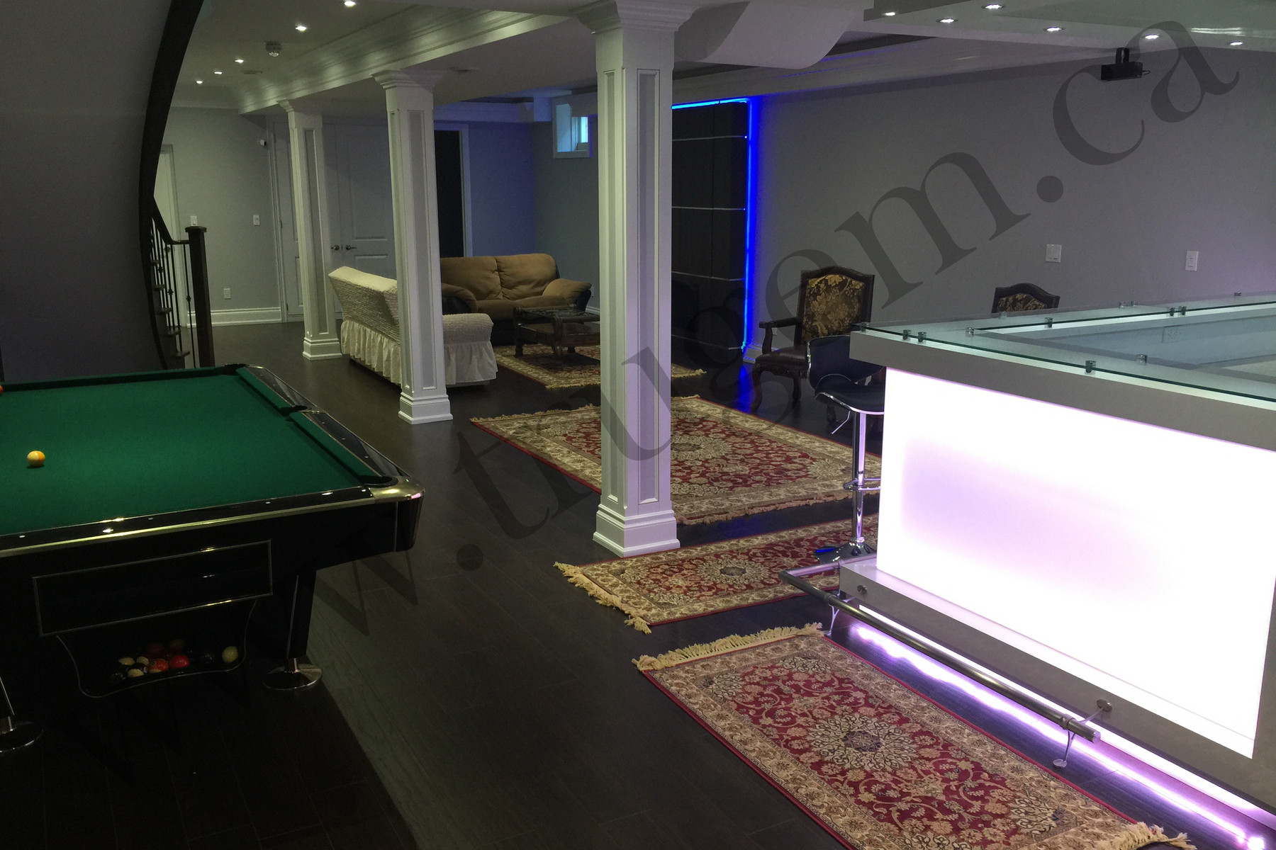Game & Bar Space in Basement