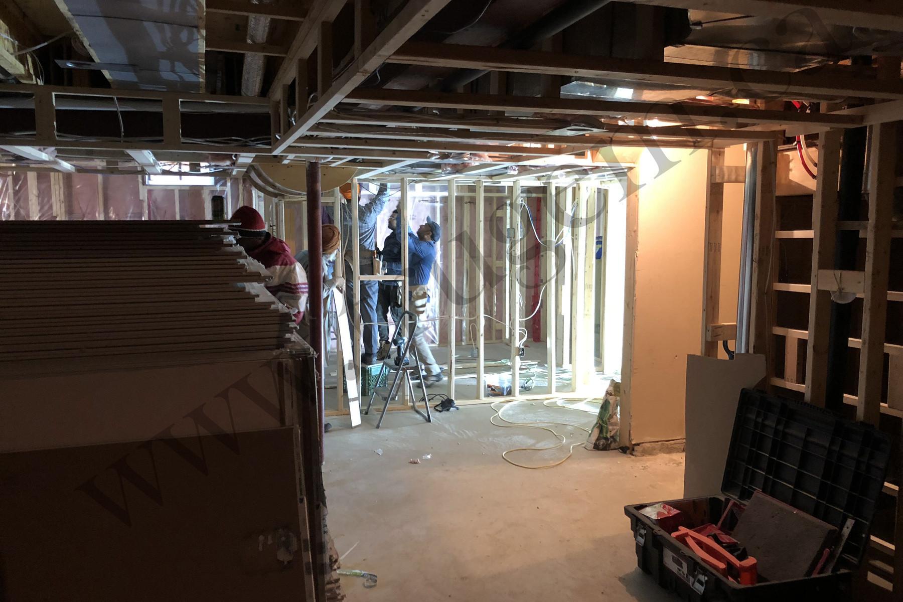 Basement Wooden Ceiling