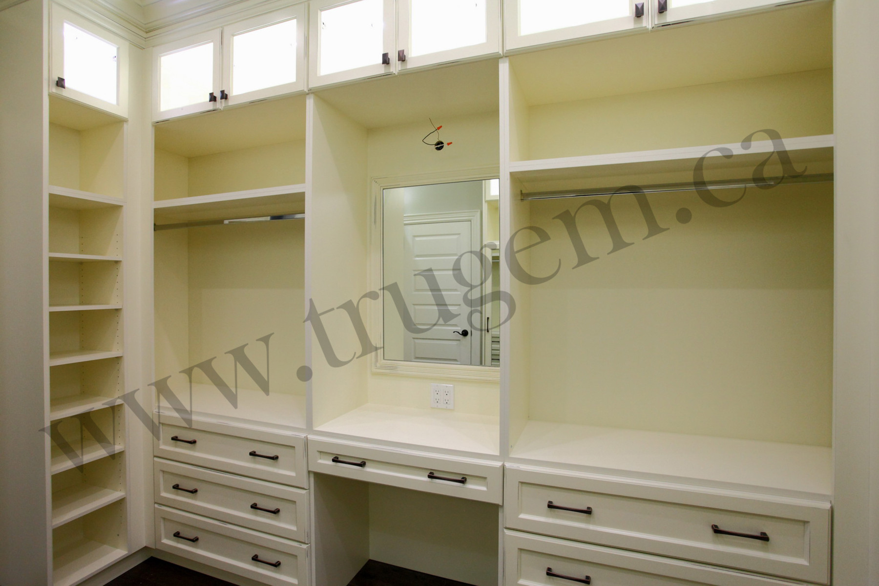 drawers & hanging closet organizer
