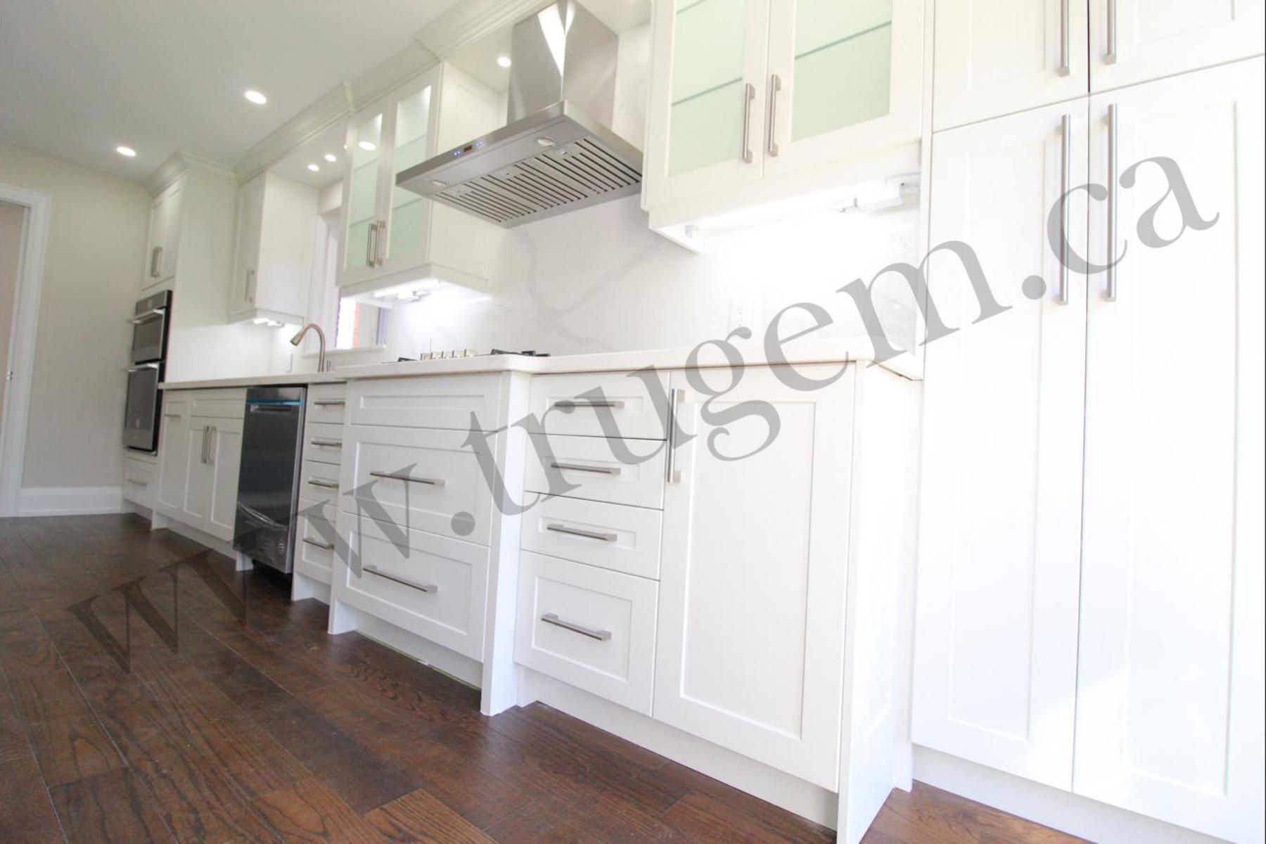 white modern cabinets kitchen
