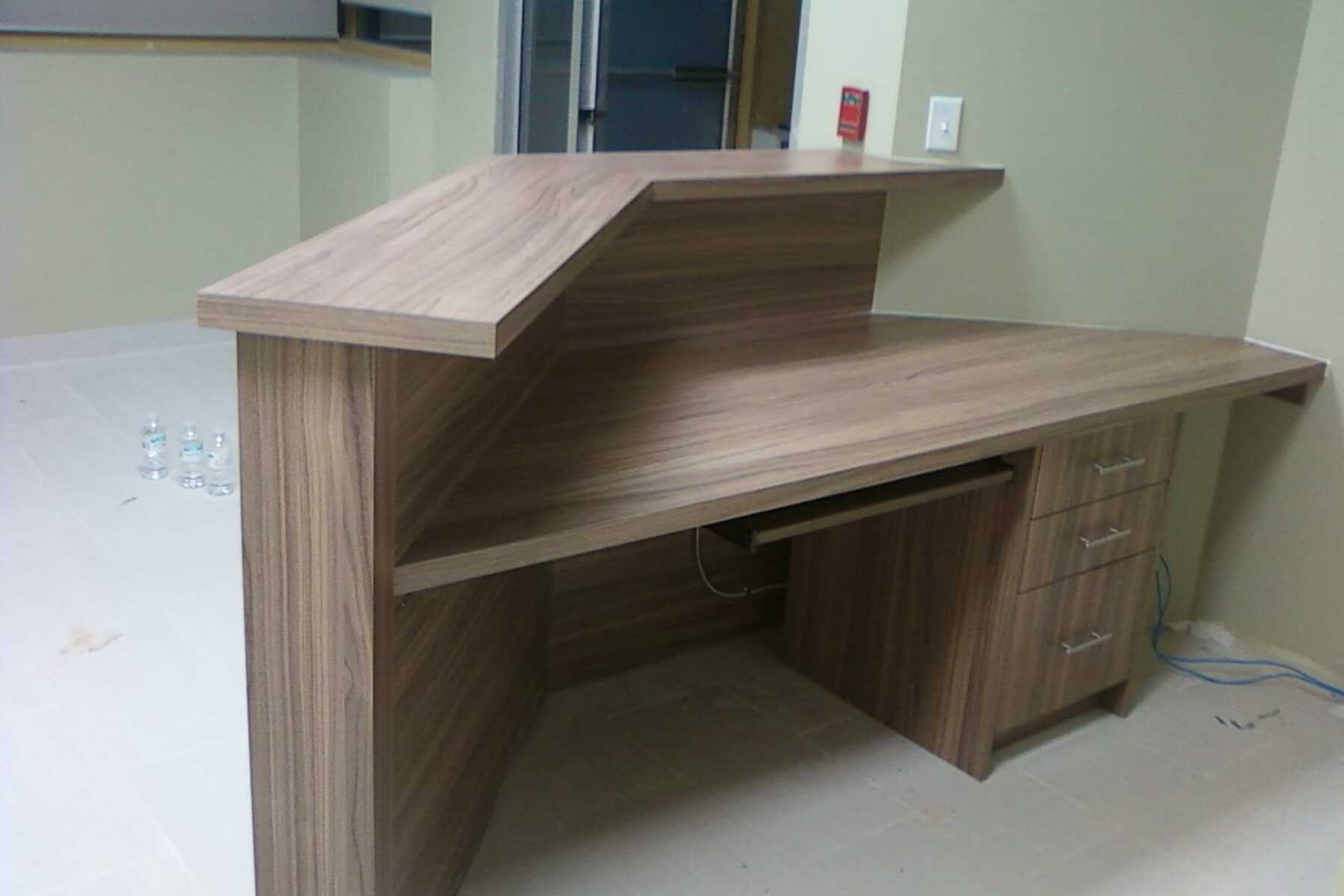 reception desk with drawers
