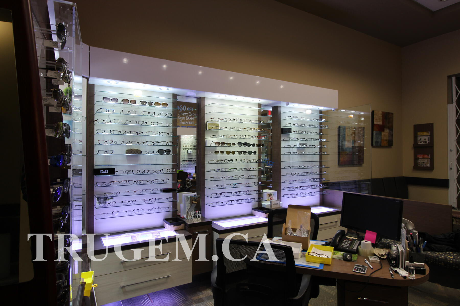 Optical Store Display Cabinets
