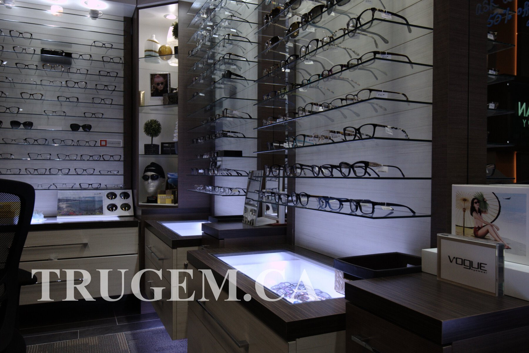 optical store cupboard designs